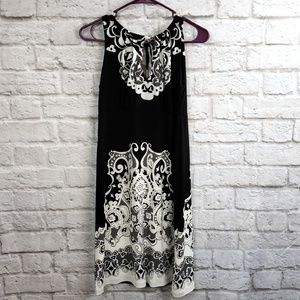 ECI New York Black and white Halter Sundress